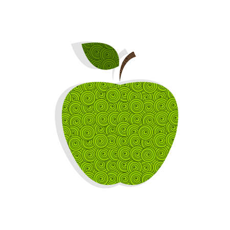green apple isolated: Textured green apple isolated on white
