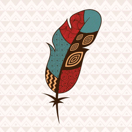patterned: Patterned colorful  bird feather