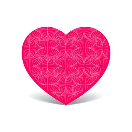 pink heart: Patterned cute pink heart