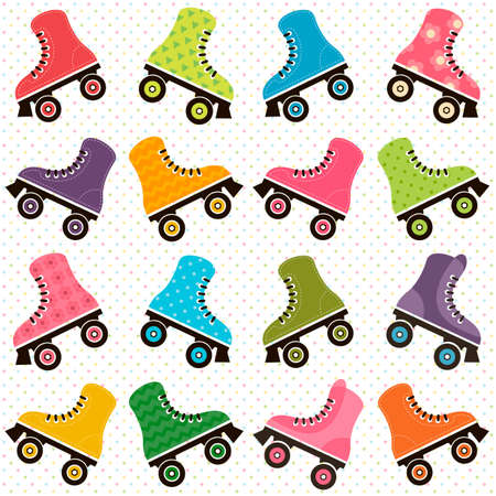background with roller skates