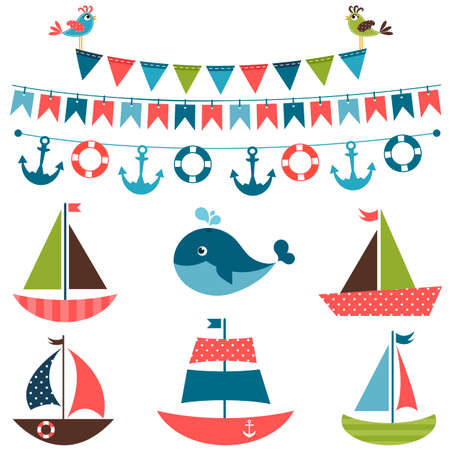 whale baby: Textured sea transport set