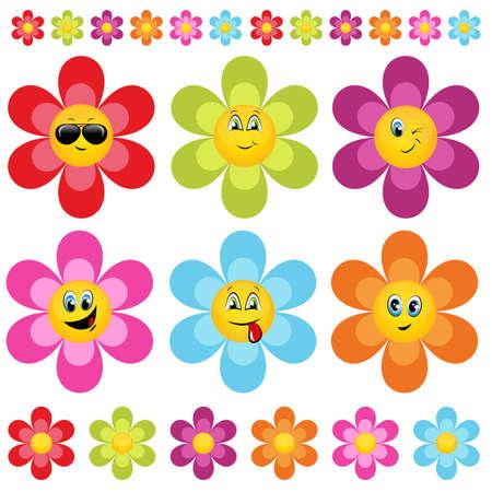 flower head: flower smileys