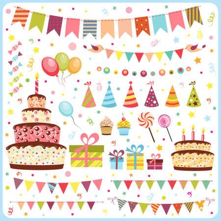 誕生日パーティー要素のセット