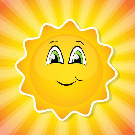 children background: Smiling sun