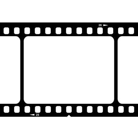 35mm: Illustration of blank 35mm film strip