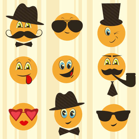 smileys: Retro smileys Illustration