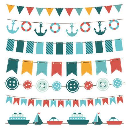 lifeboat: sea theme garland
