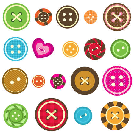 sewing buttons: set of various sewing buttons