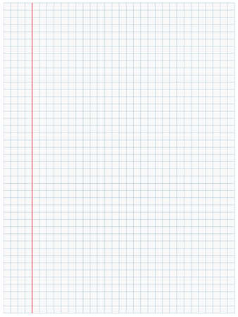 squared paper: White squared paper sheet background Illustration