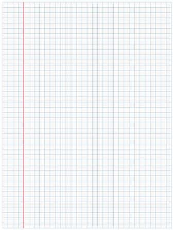White squared paper sheet background Stock Illustratie