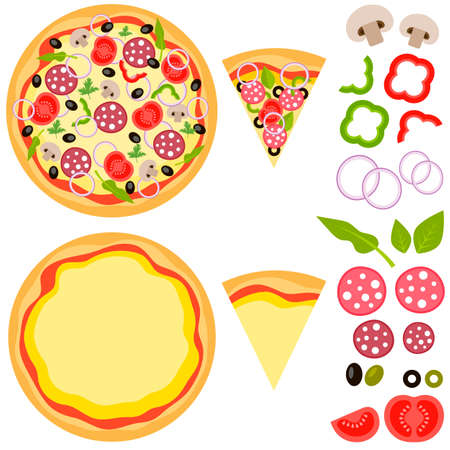 ready cooked: Pizza and special foods for pizza