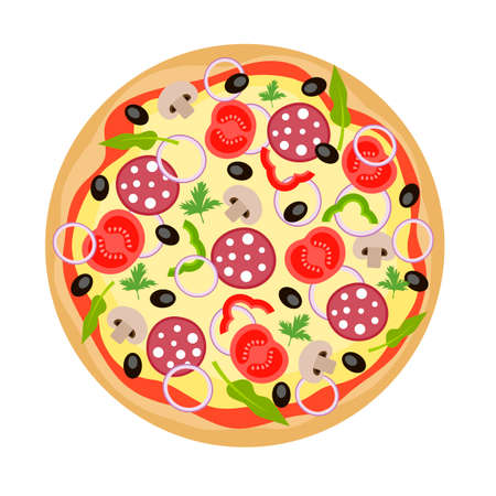 ready cooked: Pizza from Top View