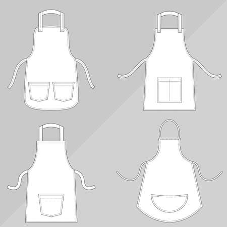pockets: Aprons with outsets and pockets