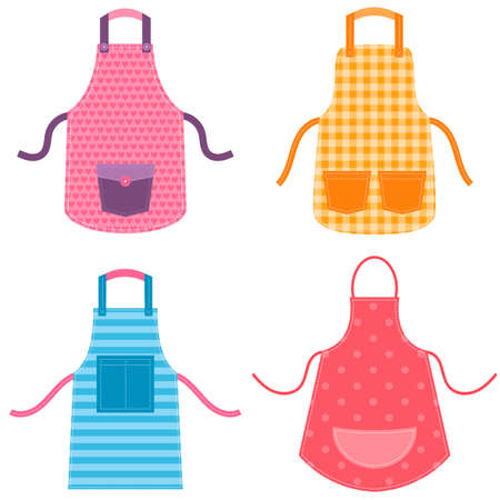 kitchen utensil: colorful apron set