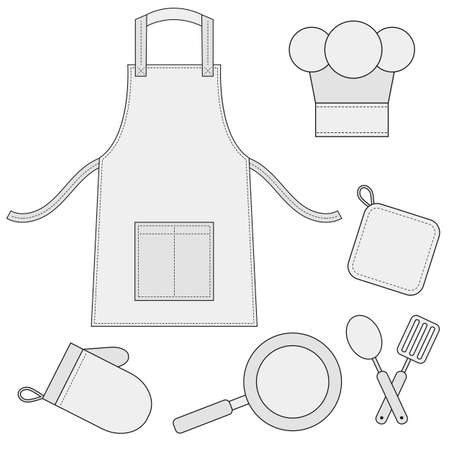 cooking utensils: Cooking utensils, kitchenware icons
