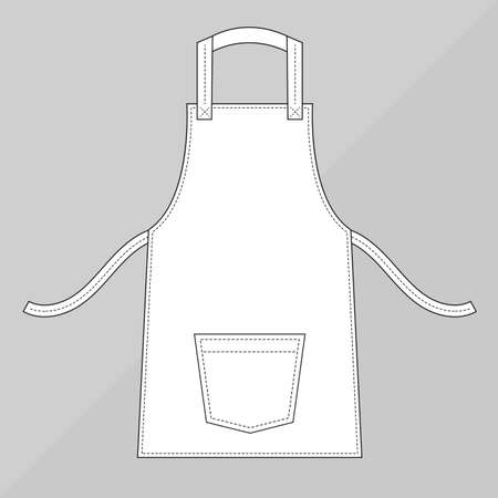functional: White apron with pocket
