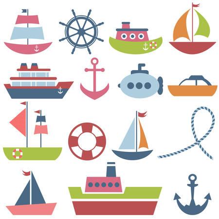 lifeboat: Colorful sea transport set