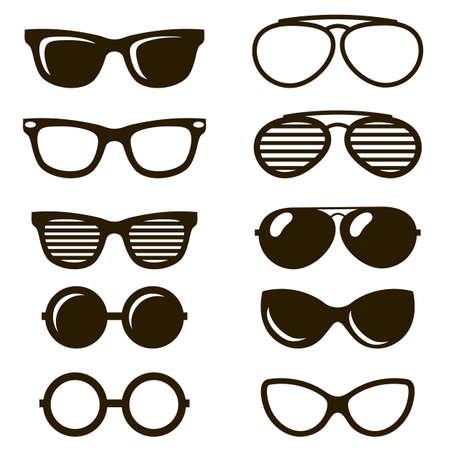 cool black sunglasses set Illustration