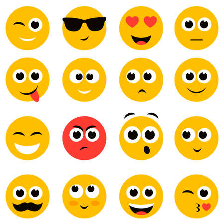 scheming: emotional face icons