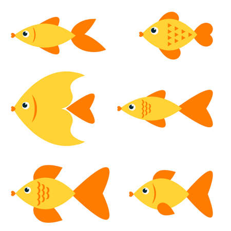 fishes: Set of golden fishes