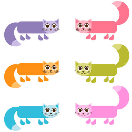 tot: cute colorful cat set