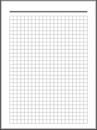 notebook paper: Notebook squared paper sheet Illustration