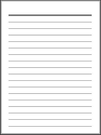notebook paper: Lined notebook paper