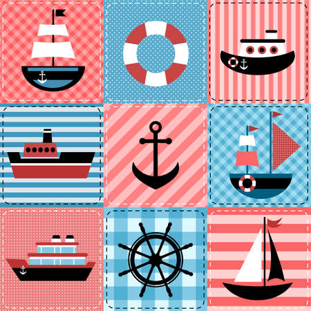 Patchwork with sea transport