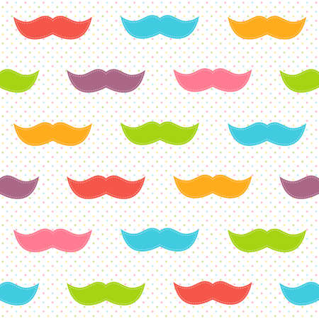 mustaches: Background with colorful mustaches