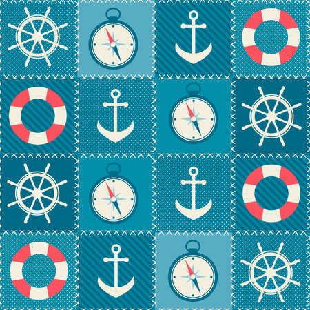 sea transport: background with sea transport elements