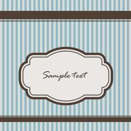 baby blue: background with stripes and vintage frame