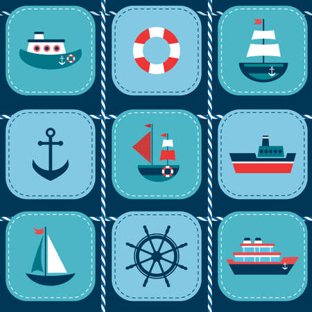 lifeboat: background with water transport Illustration