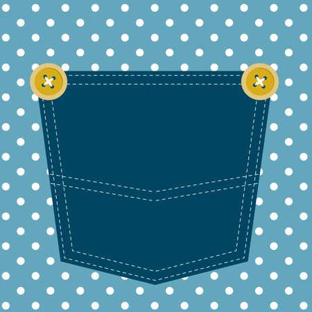 ブルー ポケット