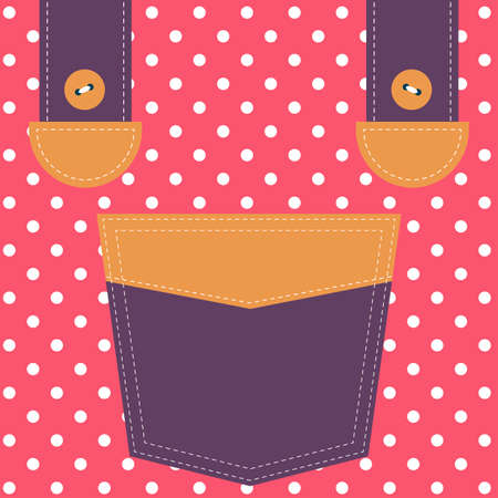 suspenders: colorful pocket and suspenders