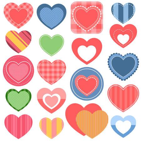 amur: Set of colorful hearts Illustration