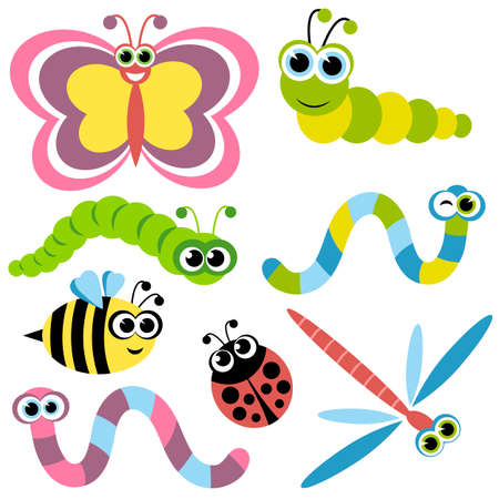warble: Set of insects Illustration