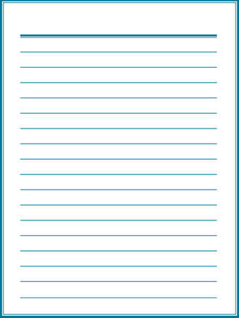 notebook paper: Notebook paper with blue lines Illustration