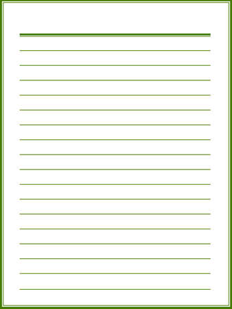 notebook paper: Notebook paper with green lines