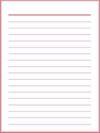 notebook paper: Notebook paper with red lines Illustration