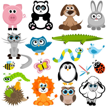 pig with wings: Set of animals
