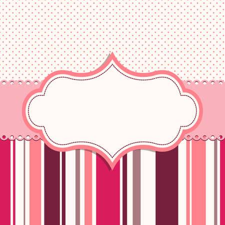 pink frame for greeting card Illustration