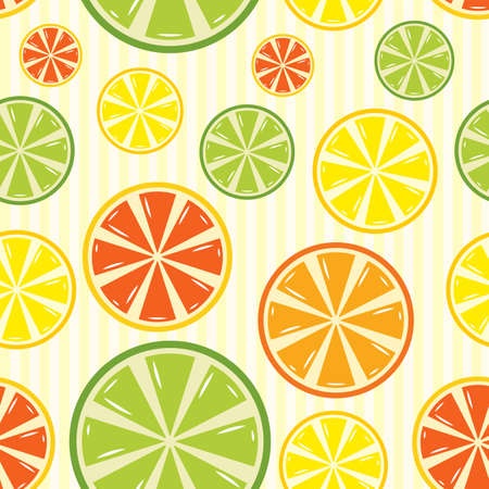 grapefruit: seamless background with lemon, lime, orange and grapefruit Illustration