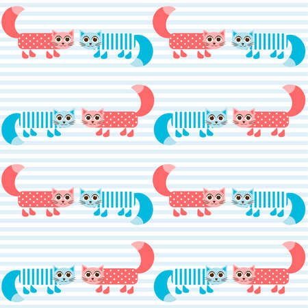 tot: pattern with cute cats