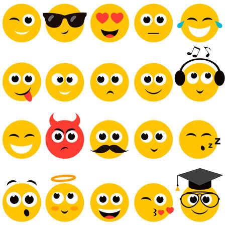 smiley: smiley faces set