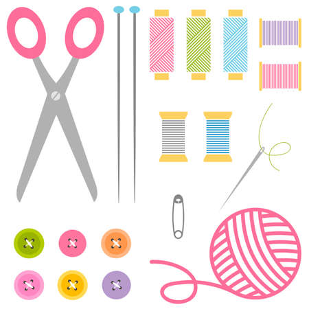 sewing and knitting tools