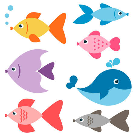 fishes: Set of colorful fishes