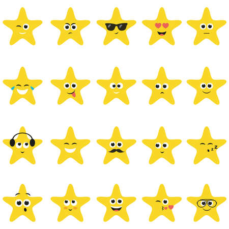 smiley: stars with smiley faces