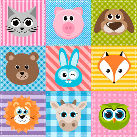 patchwork: patchwork background with animals
