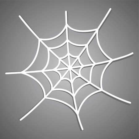 Weiß Spiderweb-Symbol mit Schatten