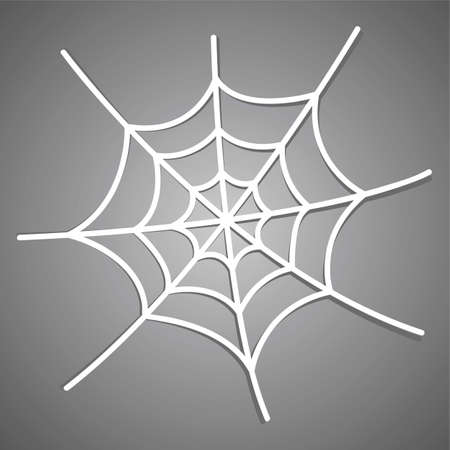 spiderweb: White spiderweb icon with shadow